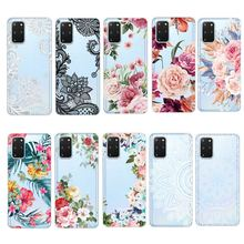 Floral Print TPU Case for Samsung S20 Ul