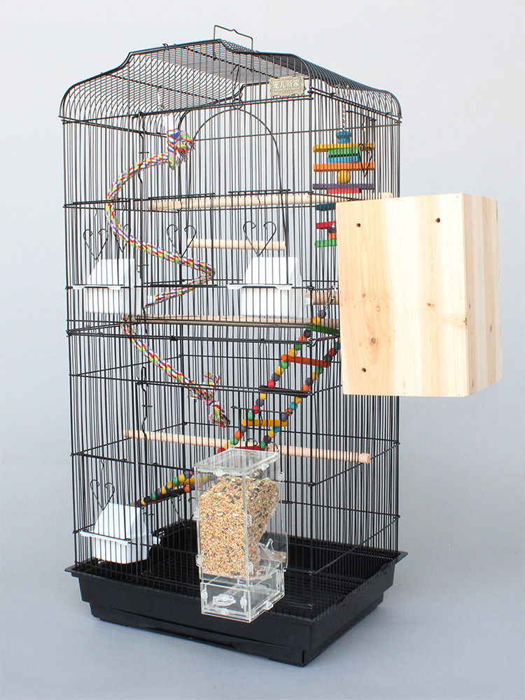 Perroquet Cage de luxe grande Cage à oiseaux Starling Cage grande pivoine métallique Wren élevage Cage nid fer grande Cage à oiseaux fournitures de Pigeon