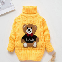 Girls kids sweaters autumn and winter boys Cotton plus velvet thickened baby stitch bottoming shirts children clothes sweaters kids children sweaters winter 2020 casual turtleneck knitted sweaters for girls warm boy sweaters cotton girls cardigan clothes