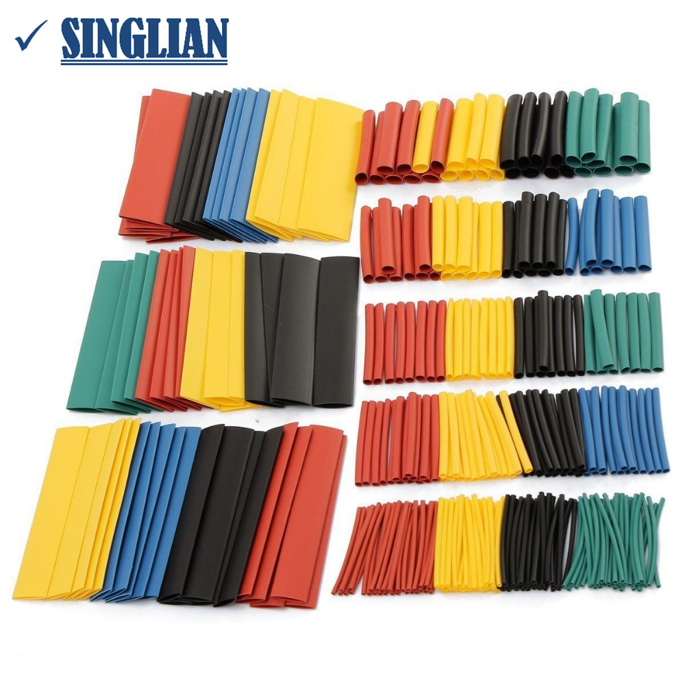 328PCS/pack Car Electrical Cable Tube Kits Heat Shrink Tube Tubing Wrap Sleeve Assorted 8 Sizes Mixed Color