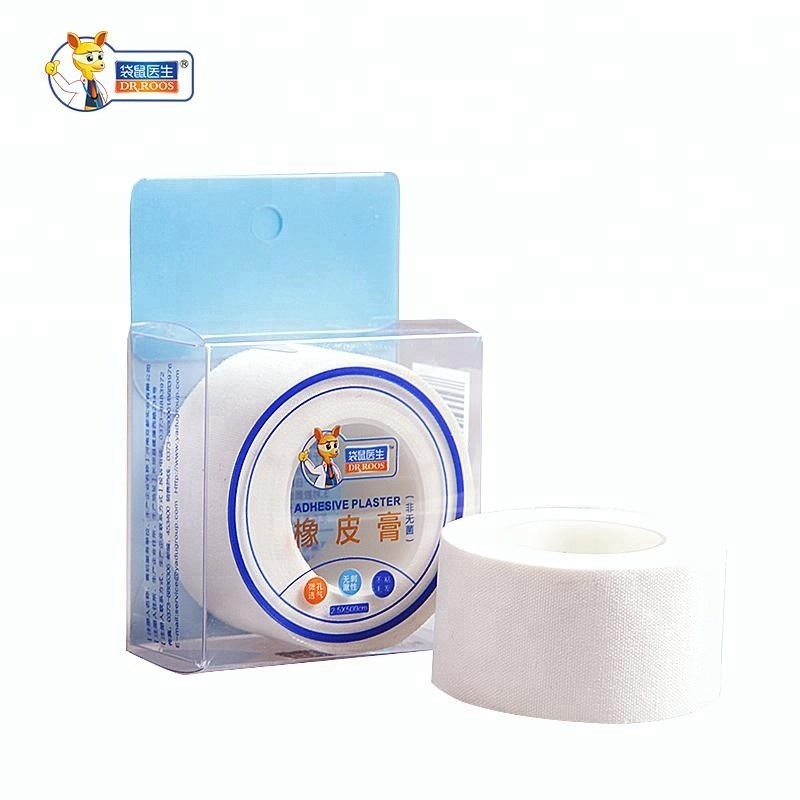 DR.ROOS 2.5cmx500cm 1 Roll Medical Tape Adhesive Plaster Gauze Fixation Tape First Aid Supplies Wound Dressing Cotton Cloth Tape