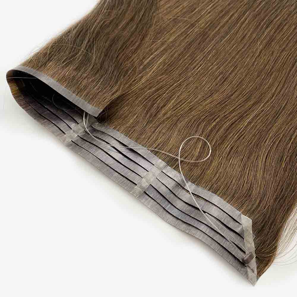 Bluelucky New Design PU Halo Hair Extensions Straight 100g/Piece