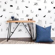Настенные виниловые обои с изображением гор Луны племени стикеры