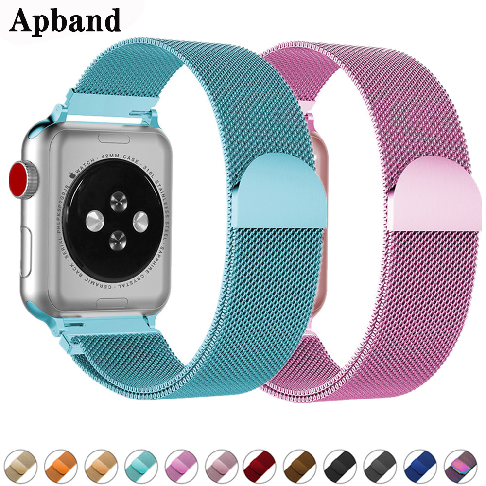 Milanese Loop Strap For <font><b>Apple</b></font> <font><b>Watch</b></font> band 44 mm <font><b>42mm</b></font> <font><b>correa</b></font> watchband 38mm/40mm iwatch bracelet <font><b>apple</b></font> <font><b>watch</b></font> series 5 4 <font><b>3</b></font> 2 1 44mm image