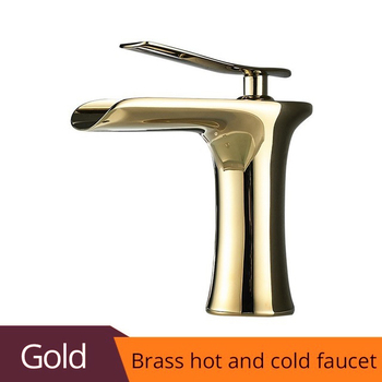 Basin Faucet Black Waterfall Bathroom Faucets Hot Cold Water Basin Mixer Tap Chrome Brass Toilet Sink Water Taps Crane Gold 1401 9