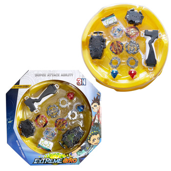 New original 4pcs beyblades Burst with 2pcs launcher and bayblade Arena combination bay blade blade children's birthday gifts image
