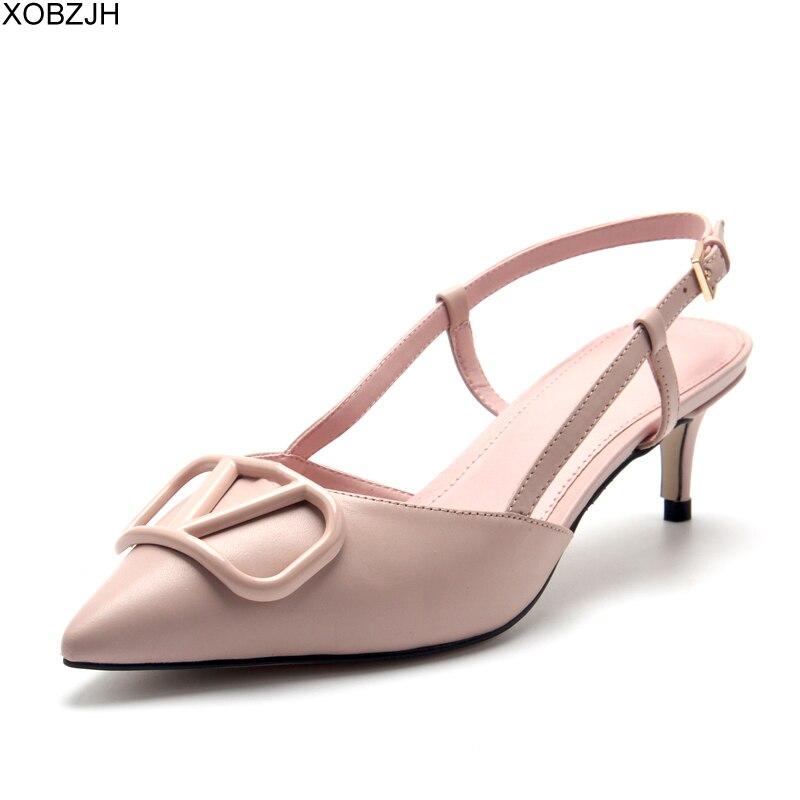 Chaussures de créateur femmes talons bas V pompes sandales de luxe 2019 marque pompes noir blanc dames en cuir sandales G chaussures femme à lacets