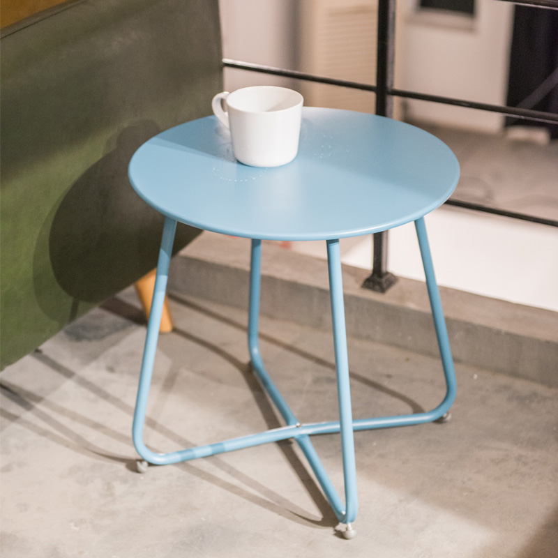 Anti-rust iron small round table sofa bed side table end table modern patio balcony outdoor round table