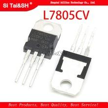 L7805cv to220 l7805 to-220 7805 lm7805 mc7805 novo e original ic, com 10 peças