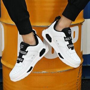 Image 3 - Nam Chun Giày Khóa Dây Siêu Sao Giày Bé Trai Chạy Bộ Người Giày Huấn Luyện Viên Lưu Hóa Xanh Size 11