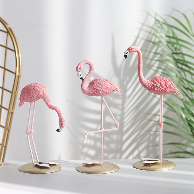 Nordic Style Flamingo Figurine Home Decoration Fairy Garden Livingroom Office Wedding Party Ornament Home Decor Accessories 1