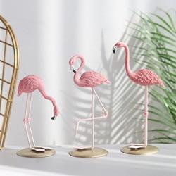 Nordic Style Flamingo Figurine Home Decoration Fairy Garden Livingroom Office Wedding Party Ornament Home Decor Accessories