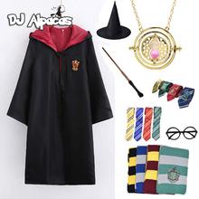 Cosplay kostium Potter naszyjnik szalik krawat magiczna różdżka hermiona Granger magia mundurek szkolny szata Haloween kostiumy akcesoria tanie tanio CN (pochodzenie) Cloak Film i TELEWIZJA Unisex Dzieci Zestawy Magic School Cosplay Poliester