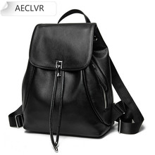 leather Backpack Bags for Women 2020 Casual Fashion Small Black Laptop Backpack Women Leather Bookbag Purse backpack  travel
