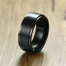 ZORCVENS – bague Spinner en acier inoxydable pour hommes, bijoux Center brossé, bracelet de fiançailles, de mariage, de qualité, mat