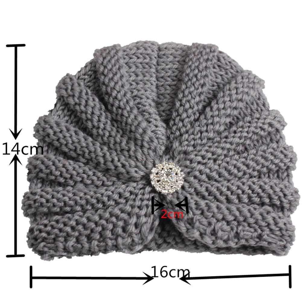 ใหม่เพชรหมวกเด็กหมวกถักอบอุ่นทารกแรกเกิดทารก Hedging หมวกแฟชั่นฤดูหนาวฤดูหนาวถักโครเชต์หมวกเสื้อกันหนาว