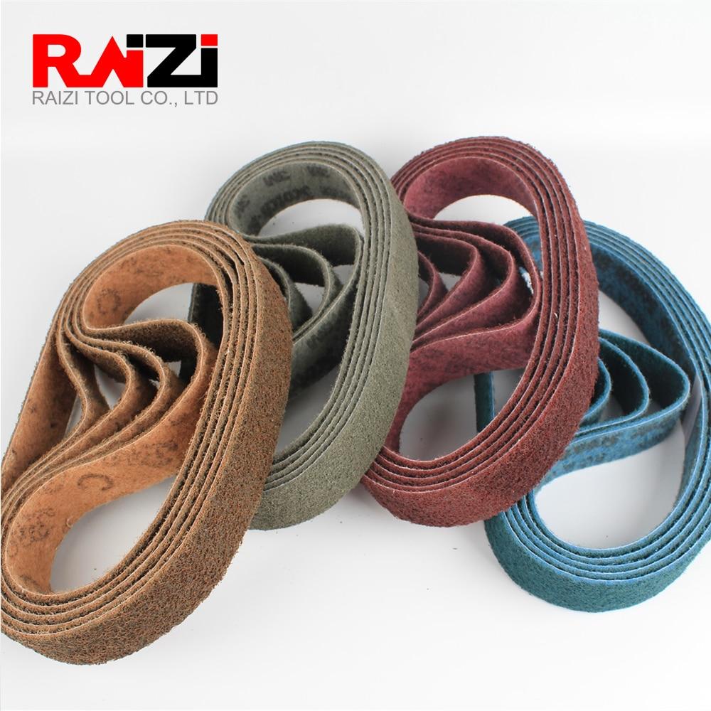 Raizi 1Pc 760 *40 Mm Non-woven Nylon Sanding Belt For Stainless Steel Sander/polisher P150-600 Grinding Belt