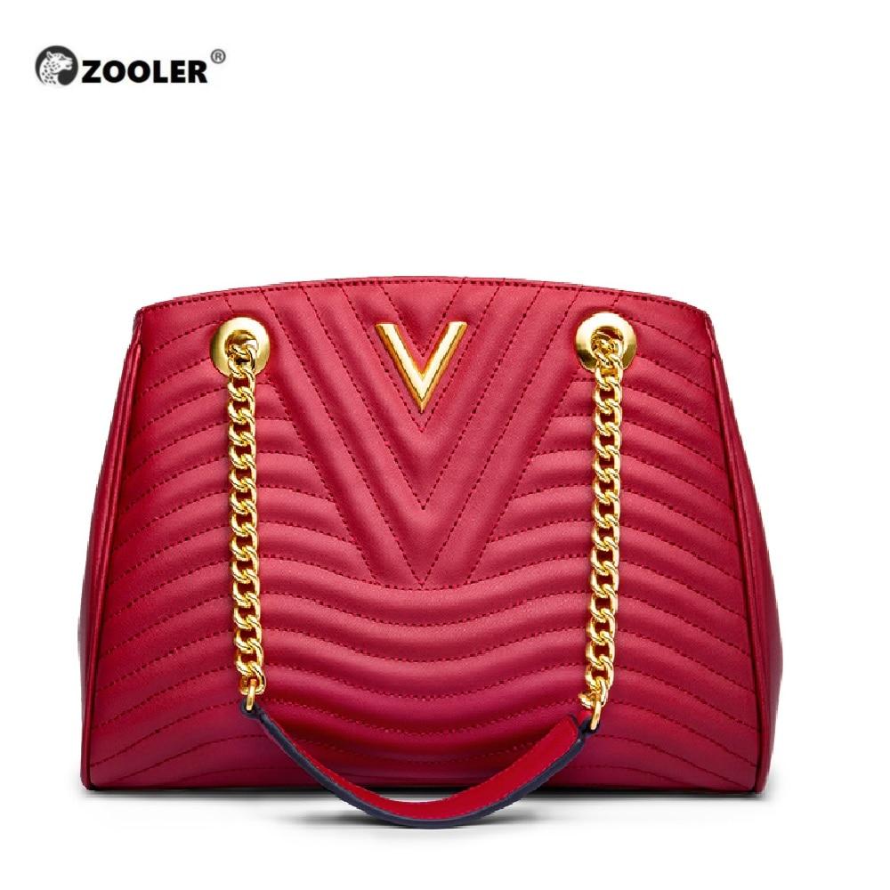Hot&New Genuine leather bags women ZOOLER 2019 luxury handbag women bags designer classic chains high quality handbags #NT100