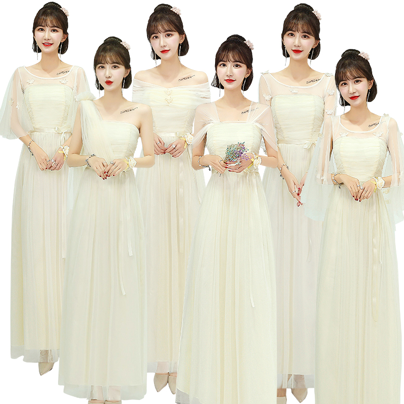 Burgundy Bridesmaid Dresses Champagne Elegant Princess Tulle Women Wedding Party Floor-Length Long Eve Party Dress Prom Vestido