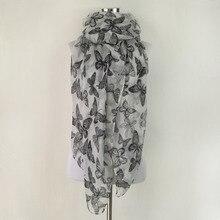 Модный мягкий весенний зимний шарф для женщин женские вискозные шарфы с бабочкой длинный шарф для женщин echarpe платки шарфы