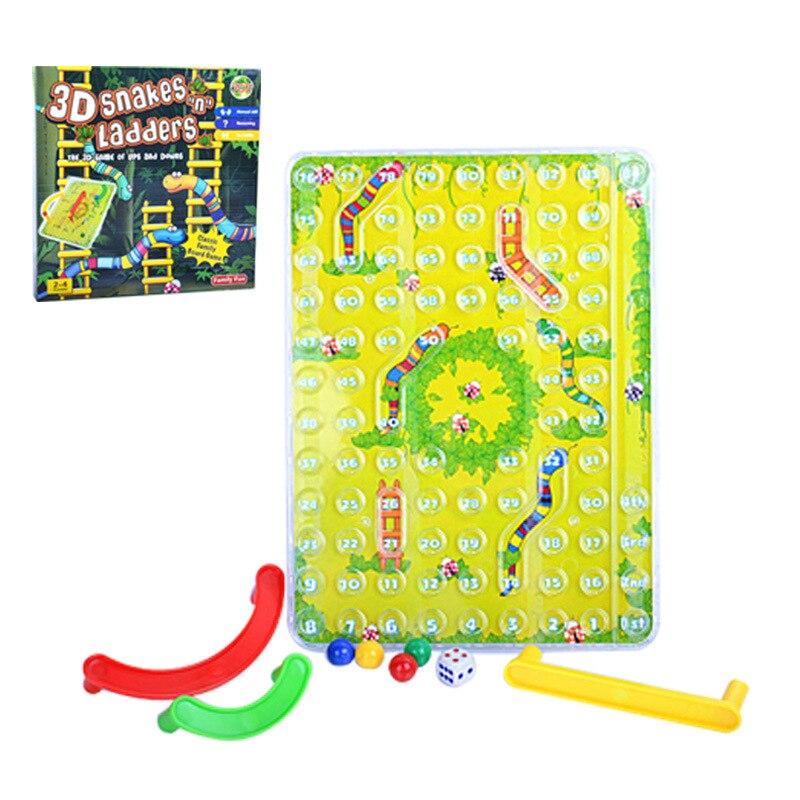 Детские игрушки традиционные 3D Змеи лестницы семья настольная игра обучающая головоломка игрушка для детей Подарки