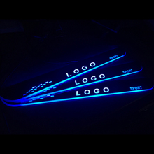 LED רכב דלת סיל עבור מרצדס בנץ CLS C219 2004   2011 דלת שפשוף סף דוושה בברכה אור אביזרי רכב