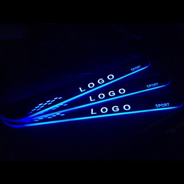LED araba kapı eşiği Mercedes Benz CLS için C219 2004   2011 kapı itişme pedalı eşik karşılama ışık araba aksesuarları