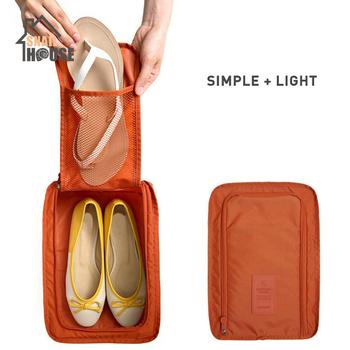 Snailhouse składany buty podróżne do przechowywania przenośne wodoodporne buty organizator do torby pokrowiec wytrzymały nosić nylonowy zamek torby na buty tanie i dobre opinie 6 drutu Szafa Ekologiczne Składane Poliester Trójwymiarowy typu 50 ml SQUARE 300*210*115 Pyłoszczelna pokrywa SN-SJ001