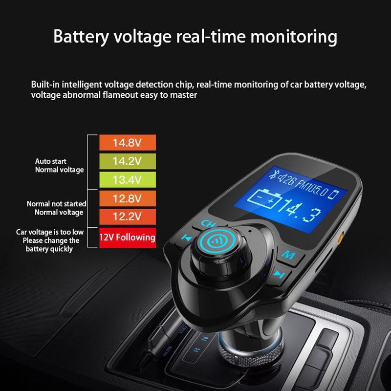 Tüketici Elektroniği'ten Şarj Cihazları'de Ucuz araba Mp3 ses çok fonksiyonlu çift USB bağlantı noktaları araç Bluetooth alıcısı araba oyuncu müzik U Disk evrensel araba şarjı title=