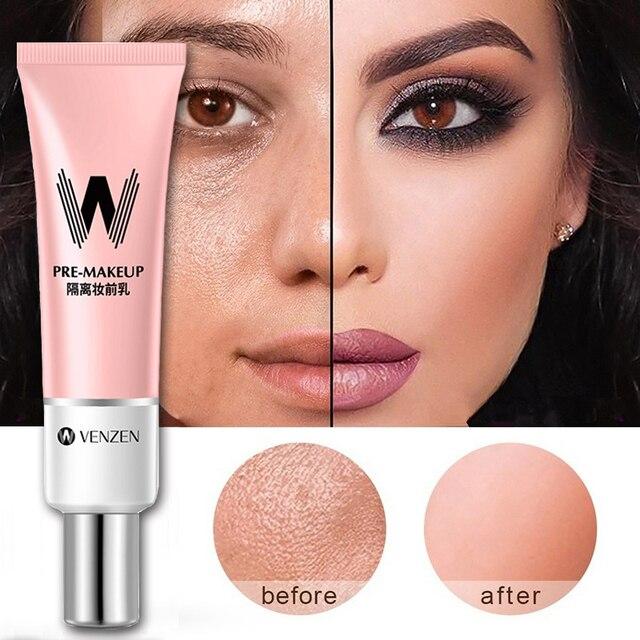 Long Lasting Face Primer Makeup Base Concealer Nature Rose Essence Pore Away Foundation Oil Control Facial Matte Primer Korean