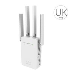Image 2 - المملكة المتحدة التوصيل الرئيسية البسيطة 300Mbps موزع إنترنت واي فاي مكرر إشارة موسع 4 هوائيات خارجية جدار مكرر