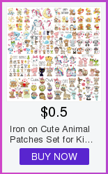 Ha6b1aafc18b342f59ef9de6a23ce4f20f Cute Animal Patches Set Iron on Transfer Unicorn Owl Cat Dog Patches for Girl Kids Clothing DIY Heat Transfer Vinyl Stickers