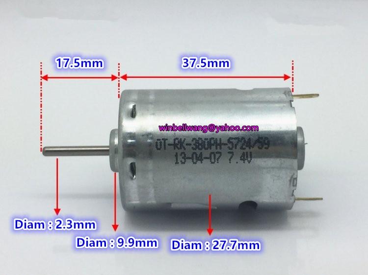 DC 3V 5V 6V 18500RPM High Speed Carbon Brush Mini R260 Round Motor DIY Car Boat