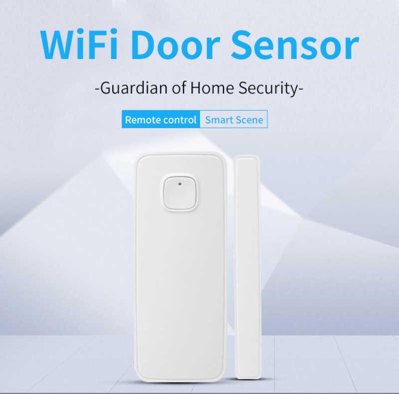 Wifi Smart Sensor Pintu Jendela Sensor, Ewelink Aplikasi Linkage Kontrol dengan Sonoff Switch Soket, Tidak Ada Hub Diperlukan, untuk Keamanan Rumah