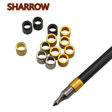 50Pcs Archery Explosion Proof Ring Nocks Protector Arrow Shaft Fit 8mm Shafts For Training Shooting Accessories