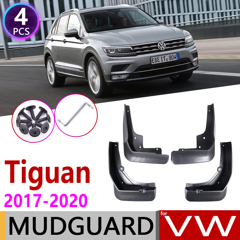 4 PCS Car Mudflaps For Volkswagen VW Tiguan 5N 2017 2018 2019 2020 MK2 Fender Mud Guard Flaps Splash Flap Mudguards Accessories