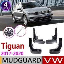 Guardabarros para coche, para Volkswagen VW Tiguan 5N 2017 2018 2019 2020 MK2, guardabarros, salpicaduras, accesorios guardabarros, 4 Uds.