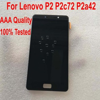 100% Tested Working Glass Sensor LCD Display Touch Screen Digitizer Assembly With Frame For Lenovo Vibe P2 P2c72 P2a42