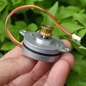 36MM wysokiej precyzji silnik krokowy 0.9 stopni Ultra cienka 2-fazy 4-Wire W/miedź synchroniczne koło pasowe do monitorowania Pan Tilt