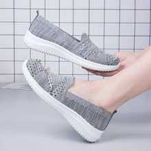 Women Tennis Shoes Breathable Mesh Footwear Summer Woman Sneakers black Flats Slip-on Hollow Out Casual Sport Gym 2021 MAZIAO