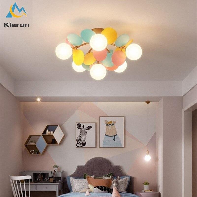 Европейские современные цветок филиал светодиодный потолочный светильник s ванная комната Светильник жилая комната спальня потолочные св...