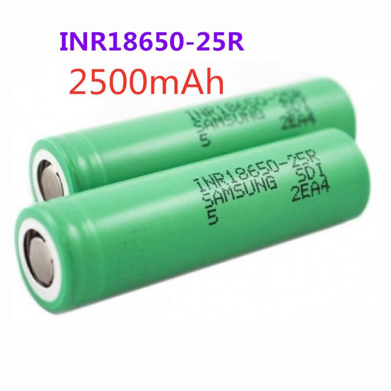 100% Original For Samsung 3.6V 18650 2500mah battery INR18650 25R 20A discharge lithium batteries screwdriver flashligh image