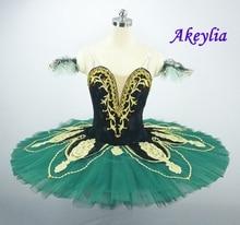 La Esmeralda Black Green Costume Nutcracker Women Professional Tutu Pancake Clssical Ballet Performance Competitons