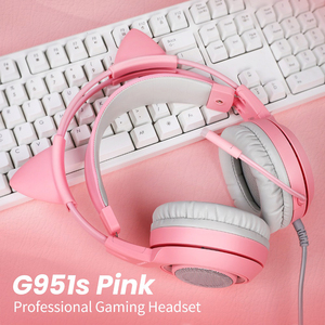 Image 5 - SOMIC G951S Pink gaming Headphones Virtual 7.1 Noise Cancelling Wired Gaming Vibration 3.5mm Headset with Mic for PC Gamer