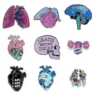 Эмалированная булавка в форме сердца матки, Женский значок, рюкзак, воротник, лацкан, модные ювелирные изделия, подарки