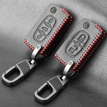 Caso clave de cuero Fob remoto para Citroen C2 C3 C4 C5 DS3 DS4 Xsara Picasso para Peugeot RCZ, 206, 308, 307, 408, 3008, 5008 expertos