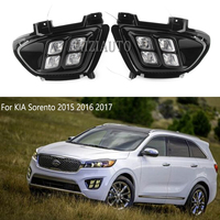 2pcs LED DRL For KIA Sorento 2015 2016 2017 Daytime Running Lights 12V ABS Fog Lamps Cover Driving Lights Accessories US model