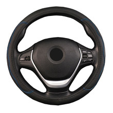 Caminhão do carro Tampa Da Roda de Direção de Couro PU Em Relevo-Diâmetros de Roda Para Auto 36 38 40 42 45 47 50CM 7 Tamanhos à sua Escolha