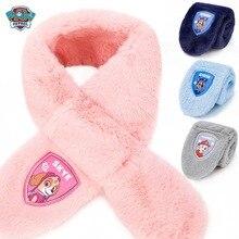 Коллекция года, зимний шарф с рисунком из мультфильма «Щенячий патруль», милые детские теплые шарфы, шарфы-кольца, подарок для детей