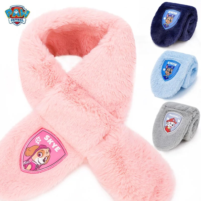 2019 Winter Genuine PAW Patrol Scarf Children's Cute Skye Chase Muffle Marshall Rubble Warm Scarves Neck Warmers Kids Gift